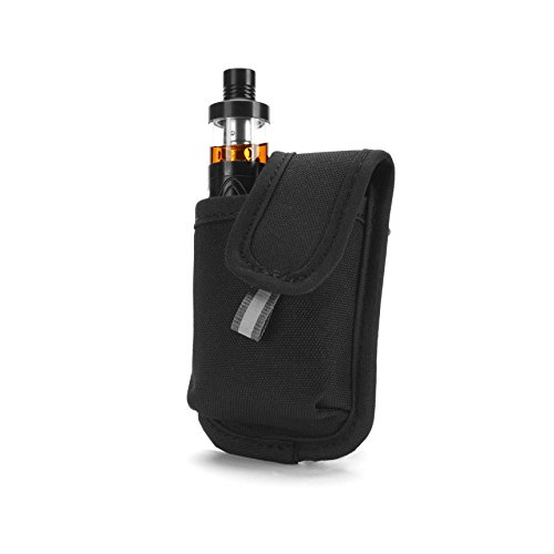 Vape Pen Mini Carrying Pouch - Secure, Organized, Portable, Premium Vapor Bag - Fits Small Mechanical Box Mods & Tank Holder - Wick and Wire (LowKey)