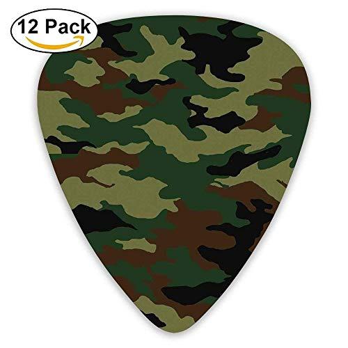 Uniform Inspired Soldier Clothing Wavy Design Guitar Picks 12/Pack,0.46/0.73/0.96 Mm Guitar ()