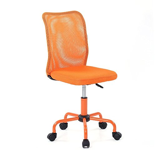 iKayaa Drehstuhl Bürostuhl mit Rückenlehne aus Netzstoff