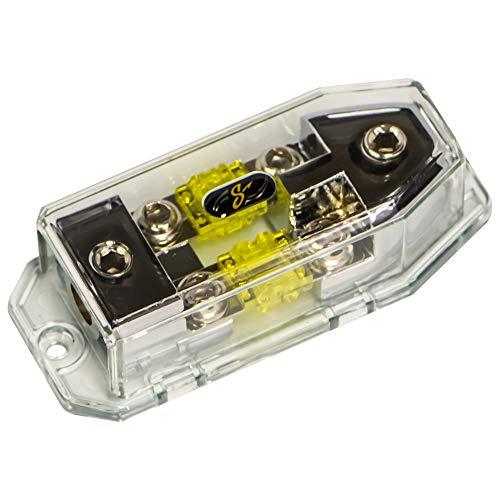 Stinger SHD822 HPM Dual Mini ANL Sicherungshalter/Stromverteilerblock 2X 1/0 GA In - 4X 4 oder 8GA Out Anl Stinger