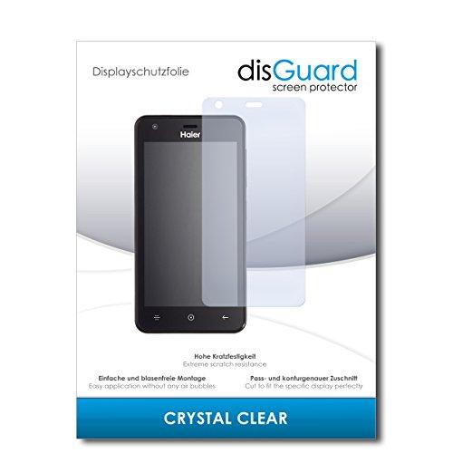 disGuard® Bildschirmschutzfolie [Crystal Clear] kompatibel mit Haier G21 [3 Stück] Kristallklar, Transparent, Unsichtbar, Extrem Kratzfest, Anti-Fingerabdruck - Panzerglas Folie, Schutzfolie