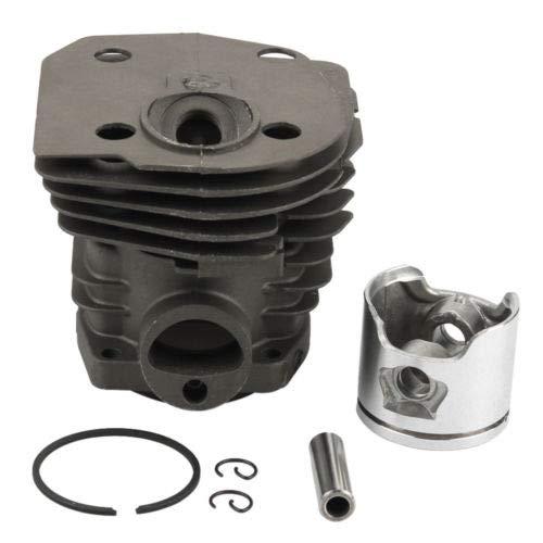44mm (Low) Zylinderkopf Kolben Replica Rebuild Kit Ring Pin Clips Montage für Motorsäge HUSQVARNA 346X P 350351353