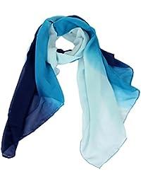 Calonice Amorino Frauen Accessoire Schal Schal in verschiedenen Blaustufen Blau Schattierter Schal Aus Polyester hell bis dunkel Blau Eine Größe 74x159x0.1 cm (BxHxT) 22200