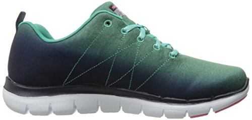 Skechers Damen Flex Appeal 2.0 High Energy Sneaker Navy/Aqua