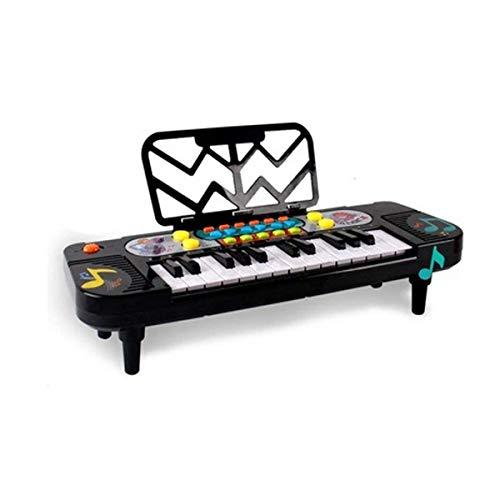 Elektronische Tastatur, Kindertastatur, Geeignet für Kinder von 1-6 Jahren, 41 * 13,5 * 4,5 cm, Schwarz (Senden Sie ein Geschenkpaket) (Color : Black-41 * 13.5 * 4.5cm)