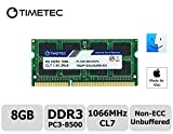 Timetec Hynix IC Apple 8GB DDR3 PC3-8500 1066MHz memory upgrade for MacBook 13-inch Mid 2010, MacBook Pro 13-inch Mid 2010, iMac 27-inch Late 2009, Mac Mini Mid 2010/Server (8GB)