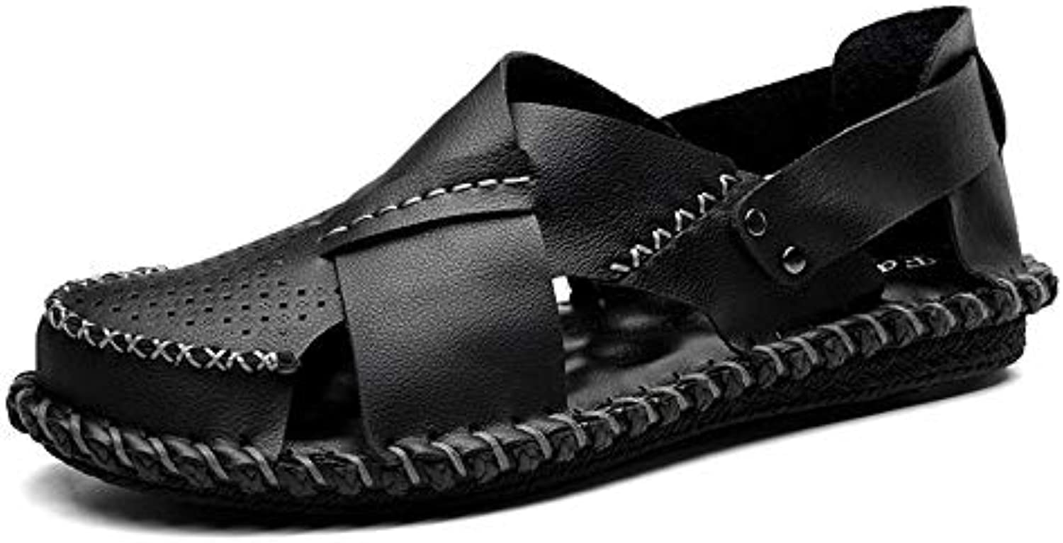 Sharon zhou Summer Men Beach Slippers Sandals Dual Use British Style Antideslizante Comfortable Dual Use Durable...