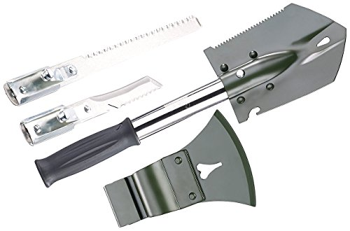 Semptec Urban Survival Technology Klappspaten: 6in1-Multi-Werkzeug-Spaten für Outdoor mit Messer, Säge, Beil & Co. (Faltschaufel)