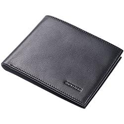 708750242 BESTKEE Cartera De Cuero Para Hombre - Billetera Tarjetas Crédito Delgada  Ventana ID. Amazon.es
