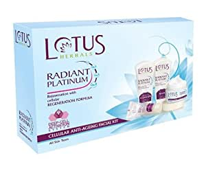 Lotus HerbalS Radiant Platinum Cellular Anti-Ageing Facial Kit