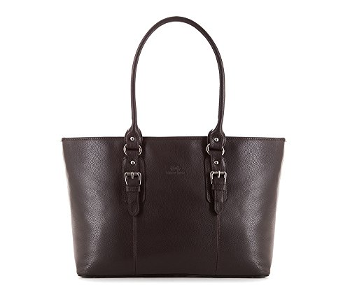 Wittchen Bolso de cuero Elegance | Color: Marrón | Material: Cuero de grano | Altura (cm): 27 - Anchura (cm): 47 | Colección: Elegance | 83-4E-911-4