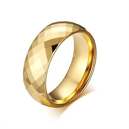 AnaZoz Schmuck Wolfram Ringe Verlobungsring Männer 8mm von Breite Bandringe Größe 62 (19.7)