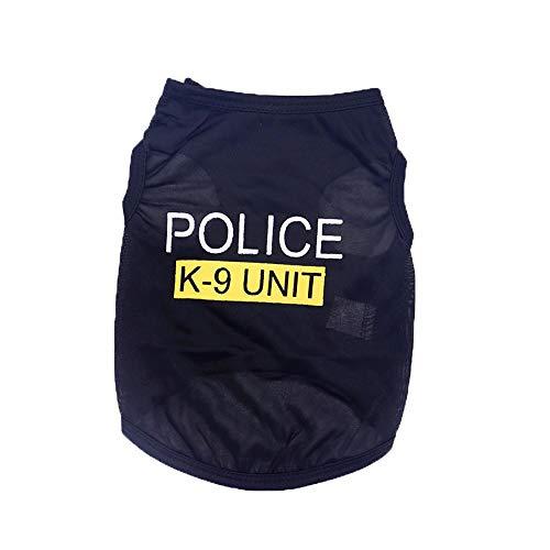 YWLINK Unisex Hunde Kleidung Welpe Katze Weste T-Shirt Bekleidung Brief Drucken Tops(Schwarz,S)