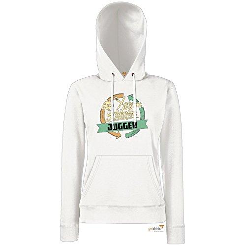 getshirts - RAHMENLOS® Geschenke - Hoodie Damen - Sport Jugger - weiss M
