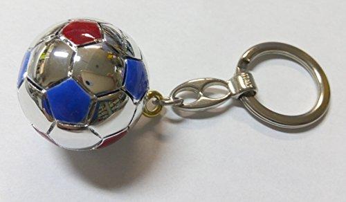 Portachiavi pallone squadra calcio barcellona d.cm4 laminato argento made in italy