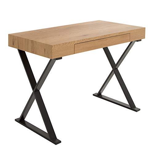 Riess Ambiente Design Schreibtisch APPARTMENT Eiche schwarz edelmatt Industrial Design Bürotisch Frisiertisch Tisch Schminktisch -