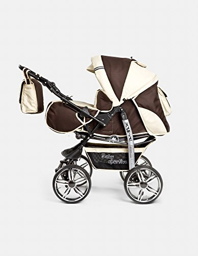 Kombi Kinderwagen Travel System Kamel 2in1 braun-beige Kinderwagen Buggy Stroller Poussette