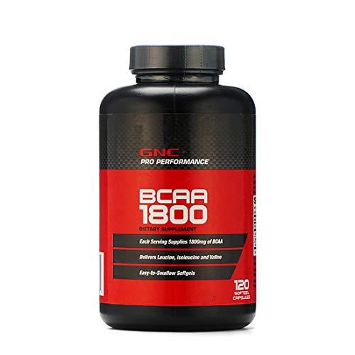 GNC Pro Perfomance BCAA 1800 / Aminosäuren 1800 mg, 120 Kapseln mit Softgel