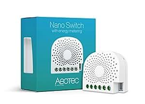 Aeotec Nano Switch mit Energiemessfunktion - Z-Wave Plus, 1 Stück, AEOEZW116