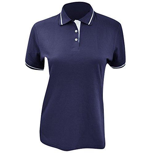 Kustom Kit St. Mellion Damen Poloshirt, Kurzarm Hellblau/Weiß