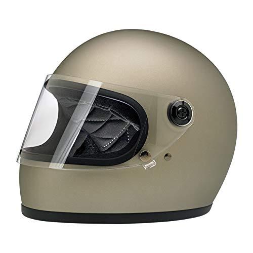 Casco Integrale Gringo S Biltwell Titanio Flat Titanium OMOLOGATO Doppia OMOLOGAZIONE ECE (Europa) & DOT (America) Helmet Biker Custom Vintage Retrò Anno 70 Taglia M