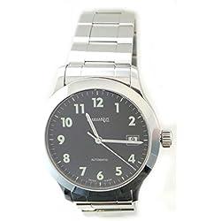 Men Eberhard 41116CA2Breaker quandrante Black Strap Stainless Steel Watch