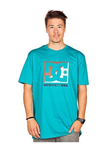 DC Shoes Herren T-Shirt Cross Star, trop grn, XL, DPMJE292-TGND