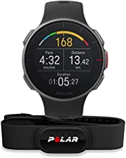 Polar Vantage V HR mit Cardio H10, Sportwatch Unisex - Erwachsene, schwarz Einheitsgröße