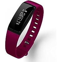 Fitness Tracker pulsera KAISI Activity Tracker Deportes de pulsera con podómetro, monitor de frecuencia cardiaca Dormir Análisis SmartBand podómetro, dormir Análisis, push de Message y llamada entrante, Rose Red
