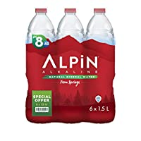 ‏‪ALPIN Alkaline Low Sodium Mineral Water Special Offer Pack, 1.5 Litre (Pack of 6)‬‏
