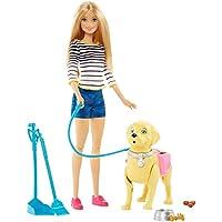 Barbie Mattel DWJ68 Hundespaziergang, Puppe und stubenreines Hündchen