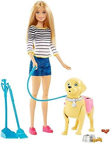 Mattel Barbie DWJ68 - Barbie Hundespaziergang, Barbie Puppe und stubenreines Hündchen