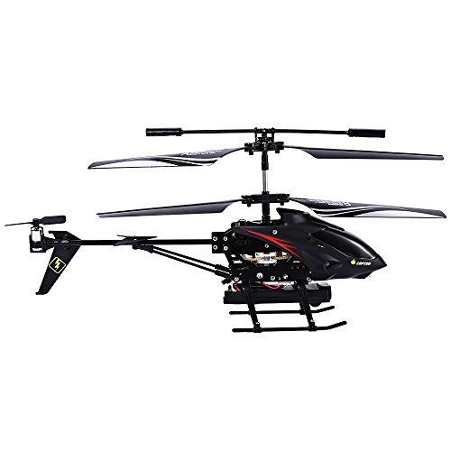RC Helicopter with Camera, 3 5 Channel Crash Resistant Wireless Radio  Remote Control Helicopter with Gyro and LED Light Ready to Fly, Dual Rotor  with