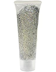 Eulenspiegel 907023 - Effekt Glitzergel 18 ml, Silber - Juwel, holographischer Glitzer