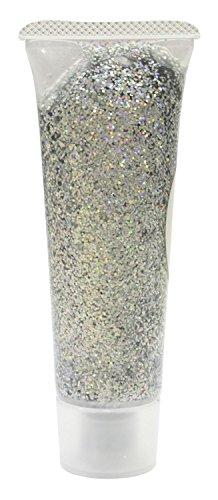 Eulenspiegel 907023 holographischer Glitzer, SilberJuwel, 18 ml