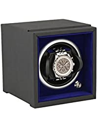 1 Watch Winder for Smaller Wrist Sizes Component System Black Soft Touch with Blue Inner by Aevitas