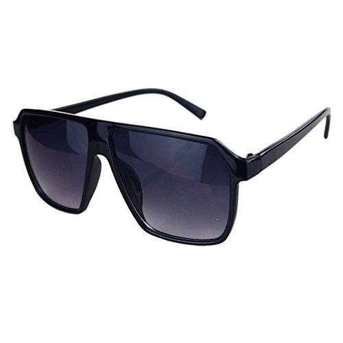 ELENXS Kleidung Accessoires Coole Große Sun Glasses große Linse klassische Art UV400 Schutz-Paar-Geliebt-Geschenke Black mit Spurhaltungs-