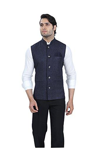 Wallson Ethnic waistcoat blazers for men slim fit party wear (DSC01676-38_Blue)