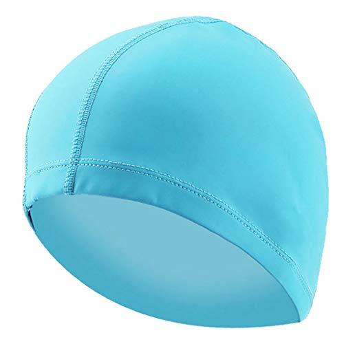 PINEsong Erwachsene Badekappe Bademütze Badehaube Schwimmhaube Schütze Dein Haar Schwimmkappe Wasserdichte Schwimmen Sport Hut Für Männer Frauen (Blau)