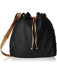 Kanvas Katha Women's Sling Bag (Black) (KKSDPOT003B)