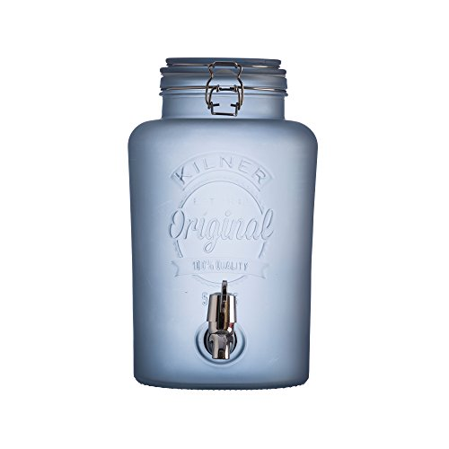 KILNER Dispensador de Bebida, Vidrio, Azul, 5 L