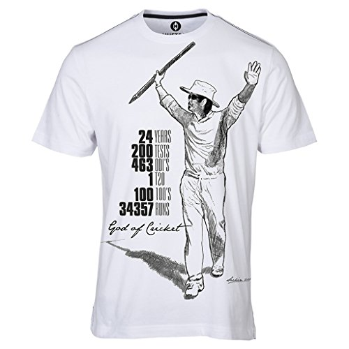 Sachin Career Graph Print White T