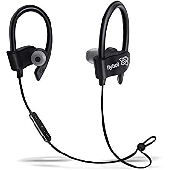 Flybot Wave in-Ear Sport Wireless Bluetooth Earphone with Mic and IPX4 Sweatproof - (Black)