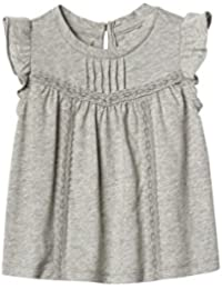 GAP Baby Girl Lace Trim Flutter Top