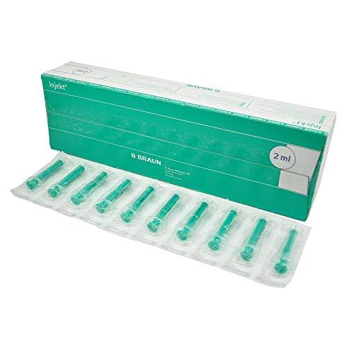 B.Braun Injekt® Solo Einmalspritze Spritze 2-teilig latexfrei 2ml, 100 Stück