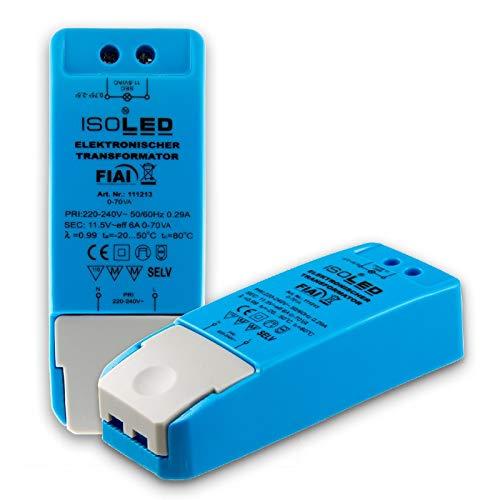 11.5  / AC, 0 bis 70W, keine Mindestbelastung, kein LED-Flimmern, kein Transformator-Rauschen, Dimmable LED-Treiber Netzteil, MR16 GU5.3 LED Halogen, ohne Mindestlast, 70VA