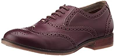 Hush Puppies Women's Maroon Leather Formal Loafers - 8 UK/India (41 EU)(554-5970)