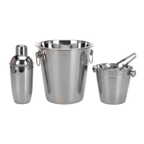 4-piece-stainless-steel-bar-set-cocktail-shaker-ice-bucket-wine-cooler-tongs