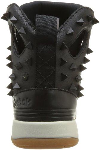 Reebok A.Keys Court, Baskets mode femme Noir (Black/Sandtrap/Rbk Brass)
