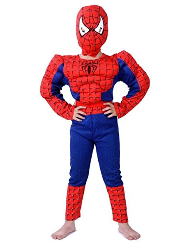 Kostüm Man Amazing Kinder Spider The (Halloween Kinder Kostüme Batman vs. Superman Muscle Spiderman dicker passt Kinder Performance Kleidung)